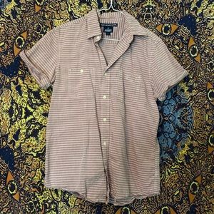 Striped Short-Sleeve Button up